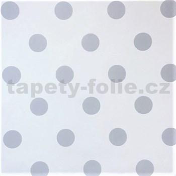 Vliesové tapety na zeď Children´s World puntíky šedé na bílém podkladu