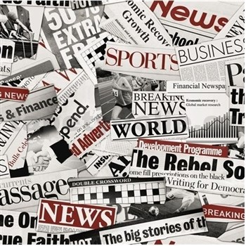 Papírové tapety newspaper