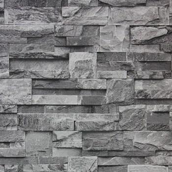 Vinylové tapety zeď kamenný obklad šedý