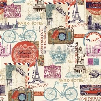 Papírové tapety Vintage Paris, London, New York