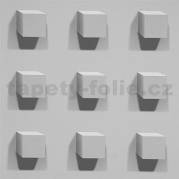Vliesové tapety na zeď Kinetic 3D kostky šedé