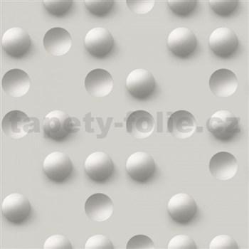Vliesové tapety na zeď Just Like It 3D kuličky šedé