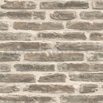 Vliesové tapety na zeď Roll in Stones kamenná zeď béžová