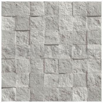 Vliesové tapety na zeď Roll in Stones kamenná mozaika šedo-stříbrná