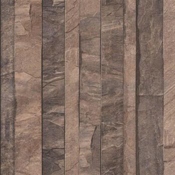 Vliesové tapety na zeď Roll in Stones kamenná stěna hnědá