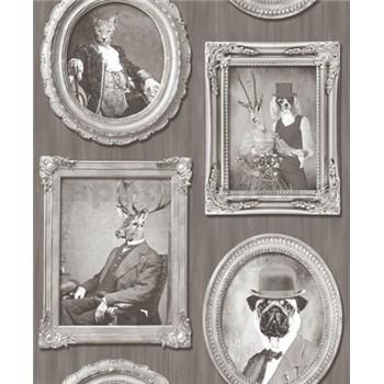 Vliesové tapety na zeď Replik Animal Portraits sépia