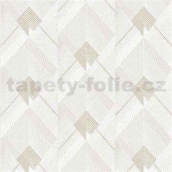 Vliesové tapety na zeď IMPOL Galactik Art-Deco bílo-niklové