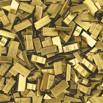 Vinylové tapety na zeď Faux Semblant cihly zlata