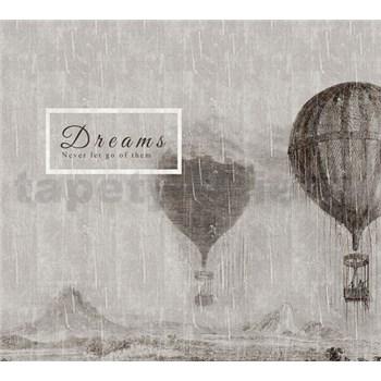 Luxusní vliesové fototapety létající balóny, rozměr 300 cm x 270 cm