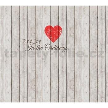 Luxusní vliesové fototapety srdce, rozměr 300 cm x 270 cm