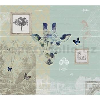 Luxusní vliesové fototapety Žirafa BEZ TEXTU, rozměr 300 cm x 270 cm
