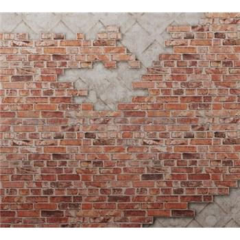 Luxusní vliesové fototapety cihlová stěna BEZ TEXTU, rozměr 300 cm x 270 cm