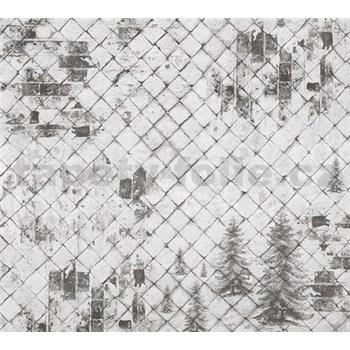 Luxusní vliesové fototapety kachlová zeď BEZ TEXTU, rozměr 300 cm x 270 cm