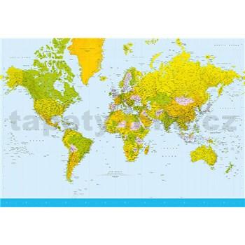 Fototapety Map of the World rozměr 366 cm x 254 cm