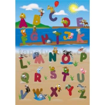 Fototapety zvířecí abeceda rozměr 183 cm x 254 cm