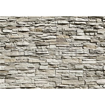 Fototapety kamenná zeď The Wall rozměr 366 cm x 254 cm