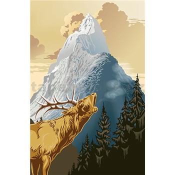 Fototapety King of the Mountain rozměr 115 cm x 175 cm