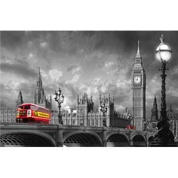 Fototapety Bus on Westminster Bridge rozměr 175 cm x 115 cm