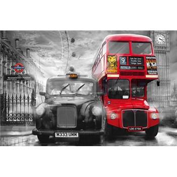 Fototapety Taxi and Bus rozměr 175 cm x 115 cm