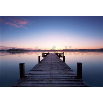 Vliesové fototapety molo Pier At Sunrise rozměr 366 cm x 254 cm