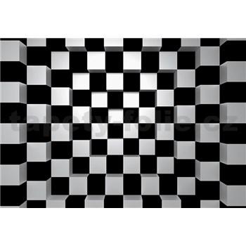 Vliesové fototapety 3D šachovnice rozměr 366 cm x 254 cm