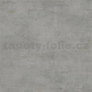 Vliesové tapety IMPOL Wood and Stone 2 beton se strukturou tmavě šedý