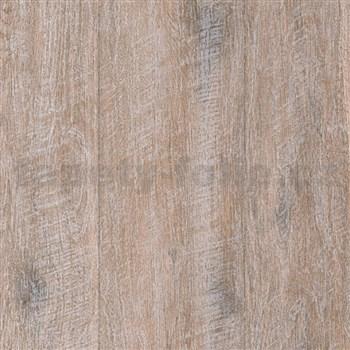 Vliesové tapety IMPOL Wood and Stone 2 dřevo s patinou hnědé