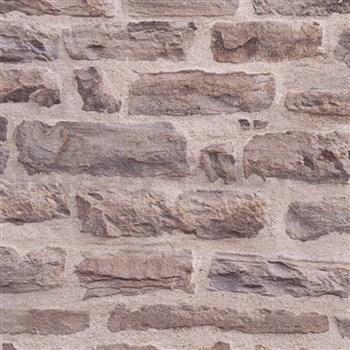 Vliesové tapety IMPOL Wood and Stone 2 ukládaný kámen hnědý - POSLEDNÍ KUSY