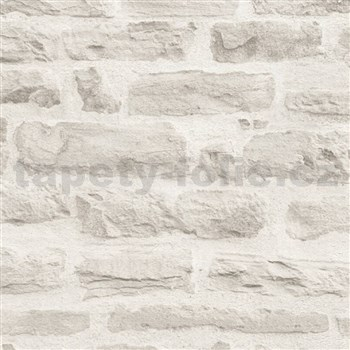 Vliesové tapety IMPOL Wood and Stone 2 ukládaný kámen šedý