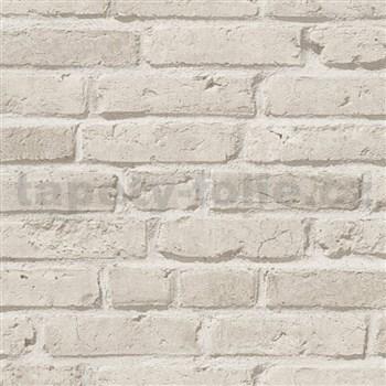 Vliesové tapety IMPOL Wood and Stone 2 cihly šedo-béžové