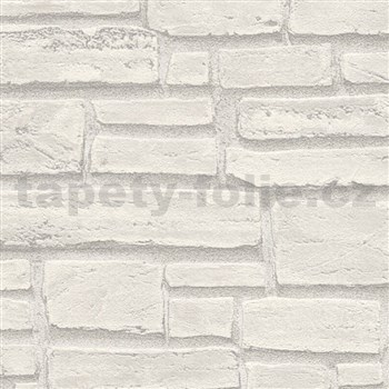 Vliesové tapety IMPOL Wood and Stone 2 cihla šedá