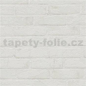 Vliesové tapety IMPOL Wood and Stone 2 cihly se strukturou světle šedé