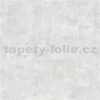Vliesové tapety IMPOL Wood and Stone 2 moderní pravidelná stěrka s odlesky bílo-stříbrná