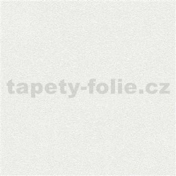 Vliesové tapety na zeď bílá s efektem pískové struktury MEGA ROLL návin 15m - AKCE
