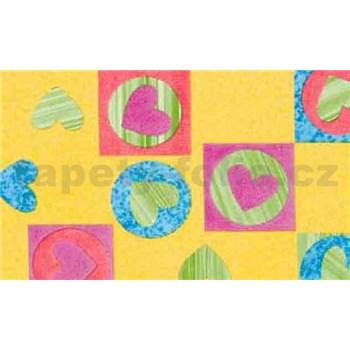 Samolepící tapety dětské - srdíčka 67,5 cm x 15 m
