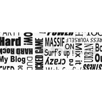 Samolepící tapety text - 67,5 cm x 15 m