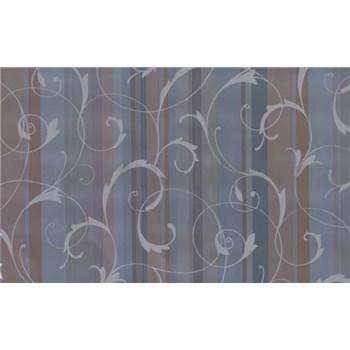 Samolepící tapety ornamenty s pruhy - modré 90 cm x 15 m