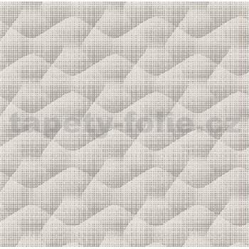 Vliesové tapety na zeď Allure vlnovky šedé se třpytkami