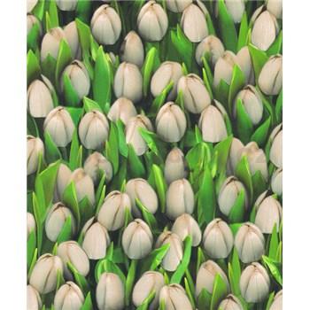 Vinylové tapety na zeď Allure tulipány bílé