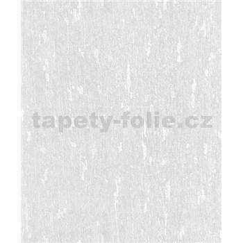 Vliesové tapety na zeď Allure štuková omítkovina šedo-bílá