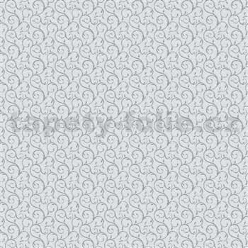 Vliesové tapety na zeď Allure ornamenty malé šedo-stříbrné