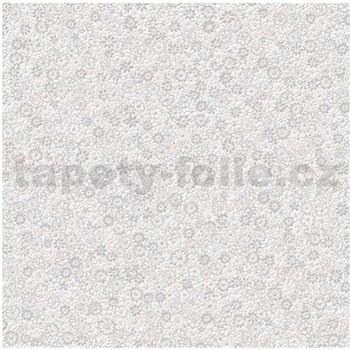 Vliesové tapety na zeď Allure květinky žluto-šedé