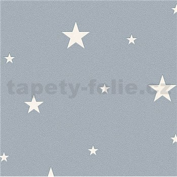 Vliesové tapety na zeď Il Decoro hvězdičky stříbrné na šedém podkladu