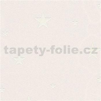 Vliesové tapety na zeď Il Decoro hvězdičky stříbrné na krémovém podkladu