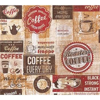Papírové tapety na zeď Simply Decor Coffee