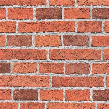 Papírové tapety na zeď Wood´n Stone cihla červená