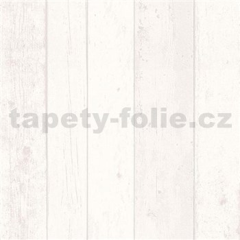 Vliesové tapety na zeď Wood´n Stone dřevěné desky bílé