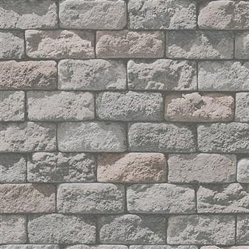 Papírové tapety na zeď Wood´n Stone kámen šedý