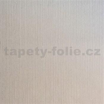 Vliesové tapety na zeď strukturovaná světle hnědá se třpytem stříbrným