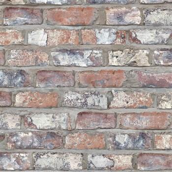 Vliesové tapety na zeď Exposed Warehouse cihla barevná